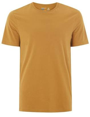Topman Mens Yellow Mustard Slim T-Shirt