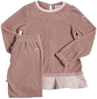 Moncler Velvet Sweatshirt & Sweatpants