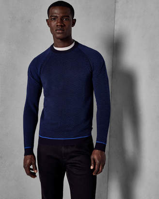 Ted Baker CANCRU Ottoman crew neck sweater