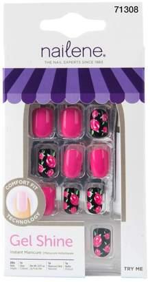 Nailene Gel Shine Floral/Hot Pink