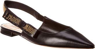 Christian Dior J'adior Leather Slingback Flat