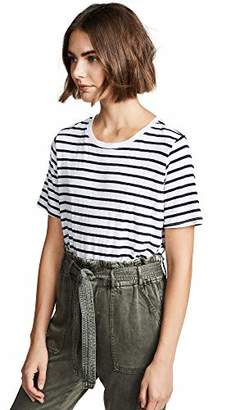 Splendid Women's Stripe Short Sleeve Crew Neck