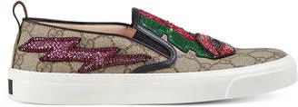 GG Supreme canvas slip-on sneaker $1,290 thestylecure.com