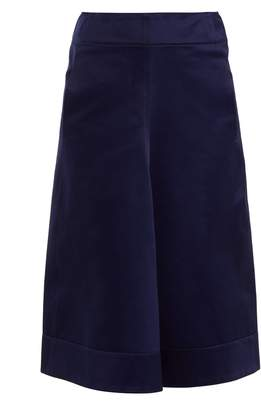 Lemaire Draped-front cotton-sateen skirt