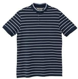 Mango man MANGO MAN Mao collar striped polo shirt