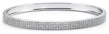 Pavé Diamond Bangle Bracelet in 18k White Gold (4 1/2 ct tw)