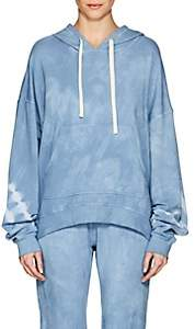Electric & Rose Women's James Tie-Dyed Fleece Hoodie-Blue