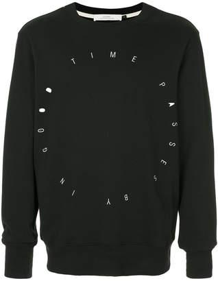 Bassike slogan long-sleeve sweatshirt