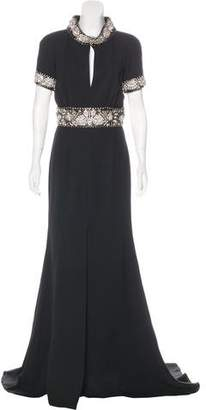 Naeem Khan Embellished Silk Gown