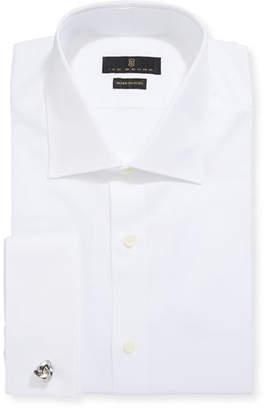 Ike Behar Men's Marcus Twill Barrel-Cuff Dress Shirt, White