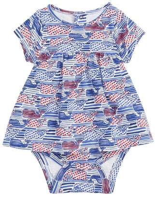 Vineyard Vines Stars & Stripes Whale Skirted Bodysuit