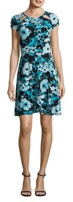 MICHAEL Michael Kors Springtime Floral A-Line Dress