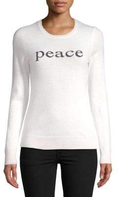Lord & Taylor Peace Cashmere Sweater