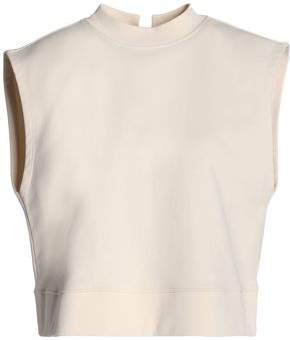 Alexander Wang Lace-Up French Cotton-Terry Top