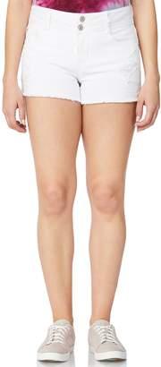 Juniors' Wallflower Curvy Ripped Jean Shorts