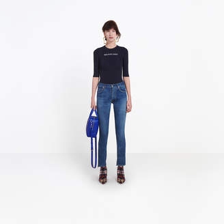 Balenciaga 5-pocket skinny stretch denim pants
