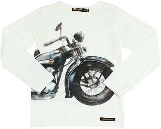 Finger In The Nose Moto Printed Cotton Jersey T-Shirt