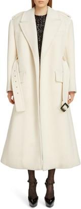 Saint Laurent Belted Wool Trench Coat