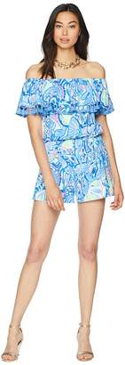 Lilly Pulitzer La Fortuna Off-The-Shoulder Romper Women's Jumpsuit & Rompers One Piece