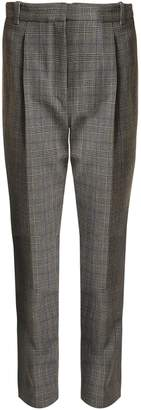 Rebecca Taylor High-rise checked cropped trousers