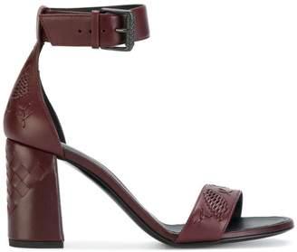Bottega Veneta intrecciato block heel sandals