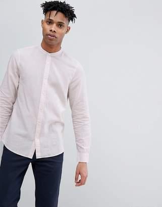 Jack Wills Hetton Stripe Linen Blend Shirt in Pink