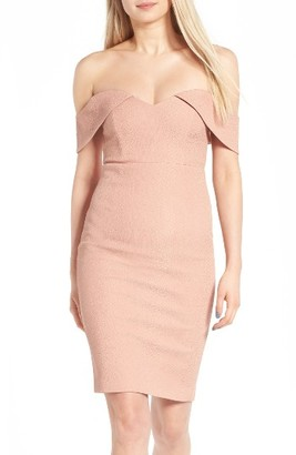 Women's Bardot Eva Off The Shoulder Body-Con Dress $129 thestylecure.com
