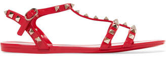 Valentino Garavani The Rockstud Rubber Sandals - Red