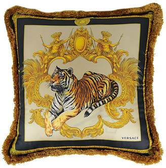 Versace Tigris Silk Printed Silk Pillow