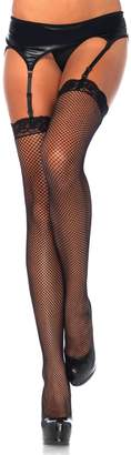 Leg Avenue Women's Plus Size Lace Top Women's Fishnet Stockings