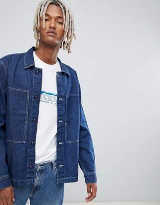 Weekday ran denim shirt billy blue