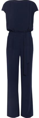 Diane von Furstenberg - Sandra Crepe Jumpsuit - Navy $528 thestylecure.com