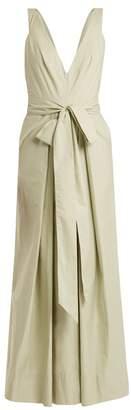 Kalita Poet By The Sea Tie Waist Cotton Dress - Womens - Light Green