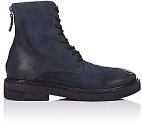 Marsèll Women's Burnished Nubuck Combat Boots - Navy