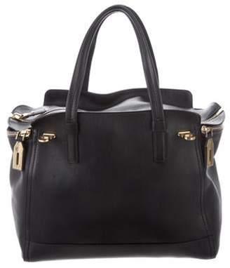 Salvatore Ferragamo Gancini Leather Tote Bag Black Gancini Leather Tote Bag