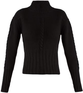 KHAITE Maude funnel-neck cashmere-knit sweater