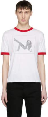 Calvin Klein White Brooke Ringer T-Shirt