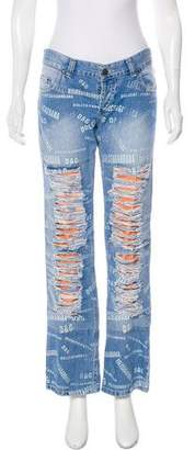 Dolce & Gabbana Vintage Mid-Rise Distressed Jeans