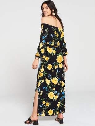 Very Tall Bardot Maxi Dress - Floral Print