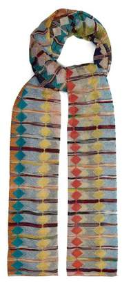 Missoni Metallic Diamond Knit Scarf - Womens - Multi