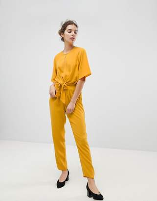 Miss Selfridge Tie Front Jumpsuit