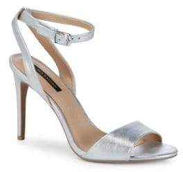 Ava & Aiden Patent Leather Ankle-Strap Sandals