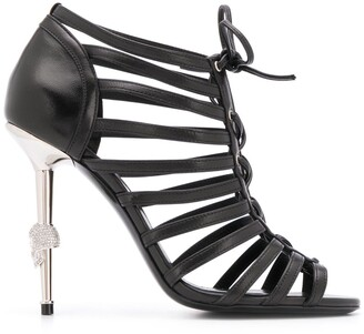 Philipp Plein Skull heeled sandals