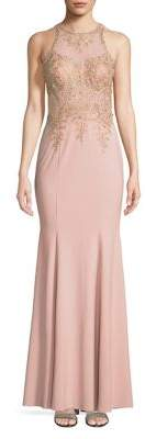 Xscape Evenings Embellished Trumpet Gown