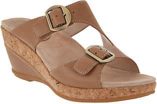 Dansko Leather Adjustable Wedge Slides -Carla
