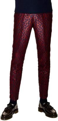 Topman Skinny Fit Leopard Print Trousers