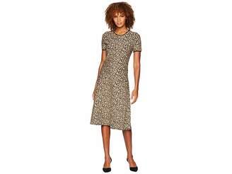 MICHAEL Michael Kors Lurex Jacquard Short Sleeve Dress