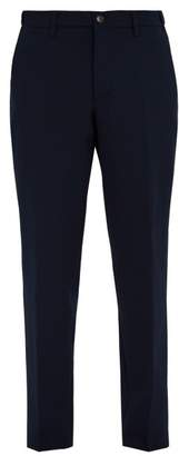 Altea Mid Rise Straight Leg Trousers - Mens - Navy