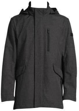 Tumi Hooded Woven Coat