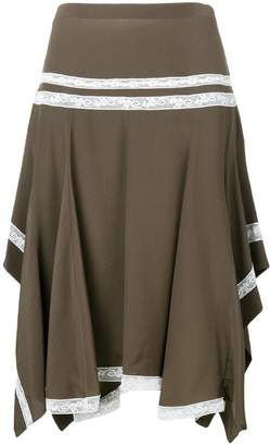 Chloé lace-embroidered flared skirt
